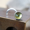 3mm Peridot Nose Stud-Nose Stud-Metal Lotus