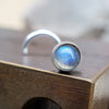 3mm Rainbow Moonstone Nose Stud-Nose Stud-Metal Lotus