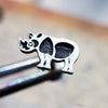 Rhino Internally Threaded Cartilage Earring-Internally Threaded Labret-Metal Lotus