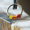 Salsa - Yellow, Orange & Red Nose Piercing Ring-Beaded Hoop-Metal Lotus