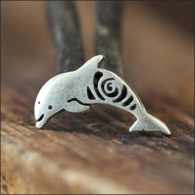 Silver Dolphin Cartilage Earring-Cartilage Earring-Caterpillar Arts