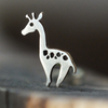 Silver Giraffe Cartilage Earring-Cartilage Earring-Caterpillar Arts