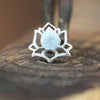 Silver Lotus Flower Pushfit Stud-Pushfit-Caterpillar Arts