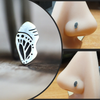 Silver Monarch Butterfly Chrysalis Nose Stud-Nose Stud-Metal Lotus