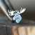 Silver Moose Cartilage Earring