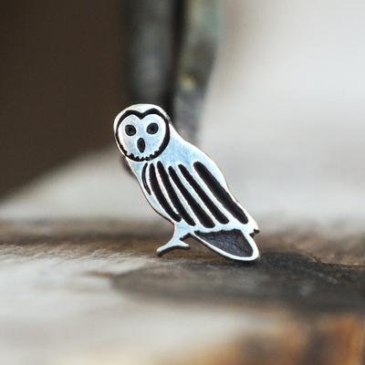 Silver Owl Cartilage Earring-Cartilage Earring-Caterpillar Arts