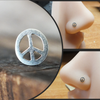 Silver Peace Sign Nose Stud-Nose Stud-Metal Lotus