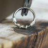 Silver Twist Hoop-Nose Hoop-Metal Lotus