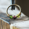 Sour Grapes, Beaded Nose Ring Hoop-Beaded Hoop-Caterpillar Arts