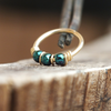 SPECIAL EDITION - June Bug, Beaded Nose Ring-Gold Nose Ring-Metal Lotus