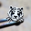 Tiger Internally Threaded Cartilage Earring-Internally Threaded Labret-Metal Lotus