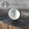 3mm White Moonstone Push-fit Stud-Pushfit-Metal Lotus