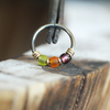 Witch's Brew - Green, Orange & Purple Nose Piercing Ring-Beaded Hoop-Metal Lotus