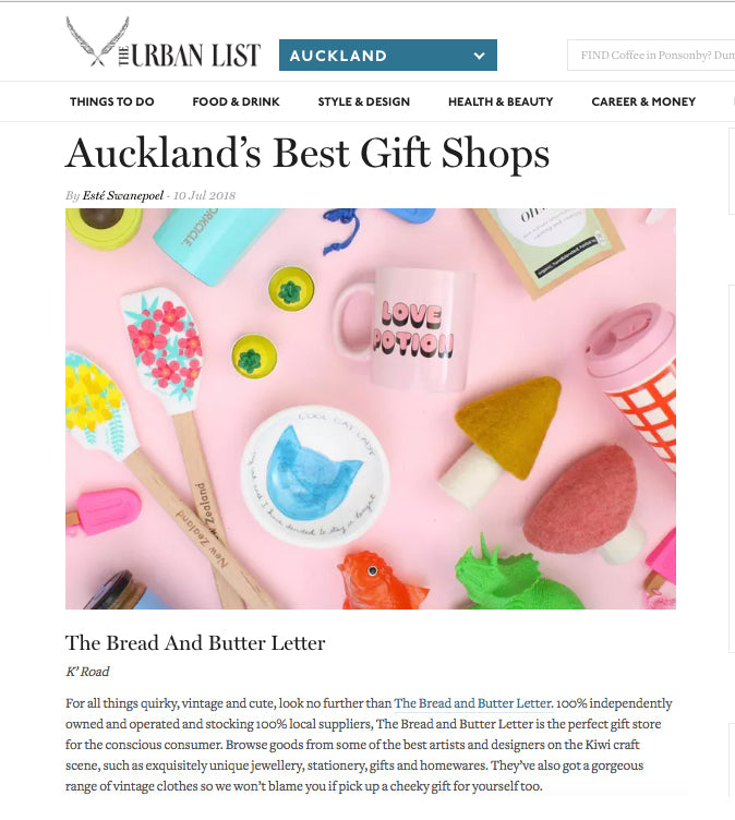 Urban List - Best of Auckland Gift Shop