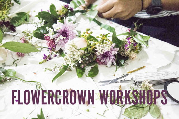 Auckland central flowercrown workshop and class for hens nights and corporate events