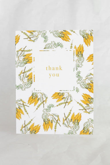 Kowhai Thank You Card