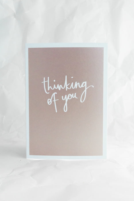 Thinking of You Metallic Card