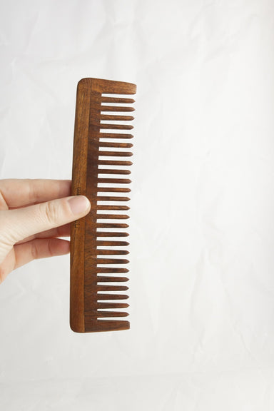 Wide Tooth Wooden Comb