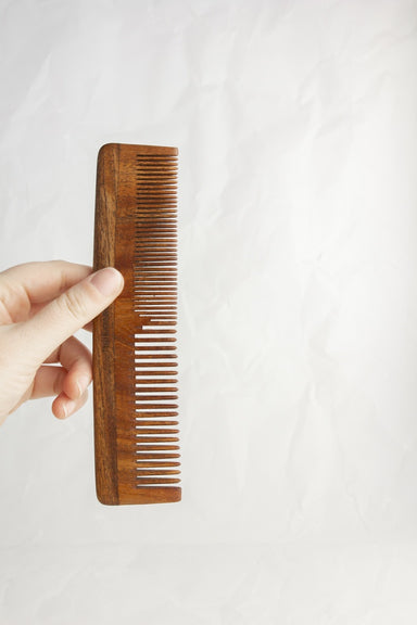 Mixed Tooth Wooden Comb