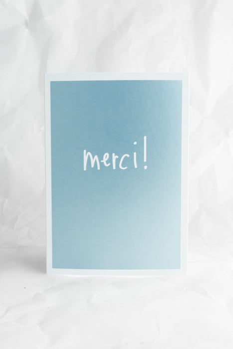 Merci Metallic Card