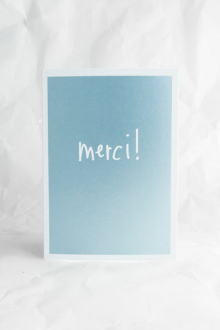 Mettalic Merci Card