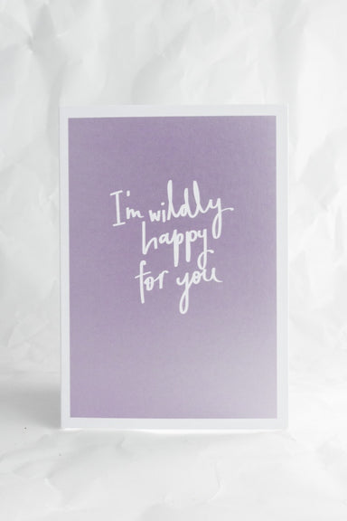 Metallic Wildly Happy Card