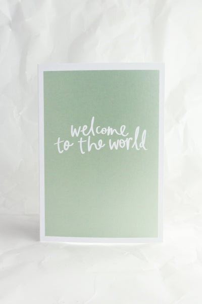 Welcome to the World Metallic Card