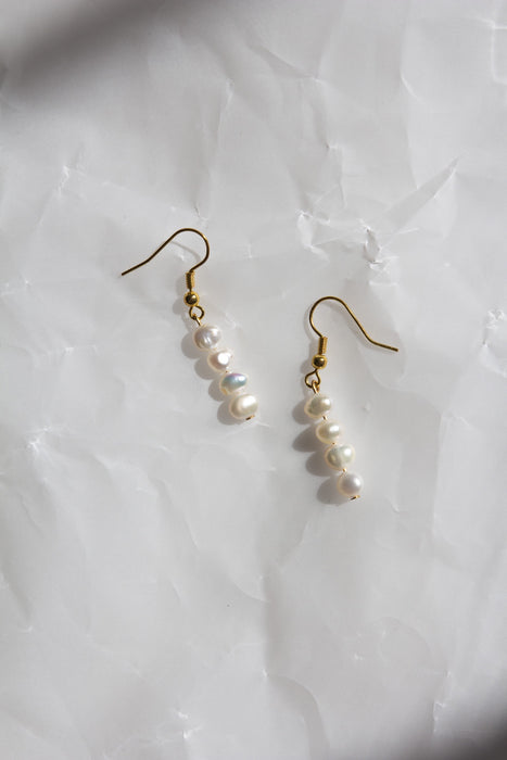 Small Popcorn Pearl Earrings