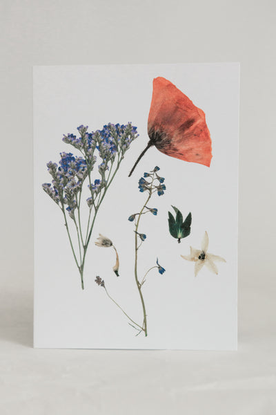 For her the bread and butter letter pressed flower greeting card group of flowers bookmarktalkfo Image collections