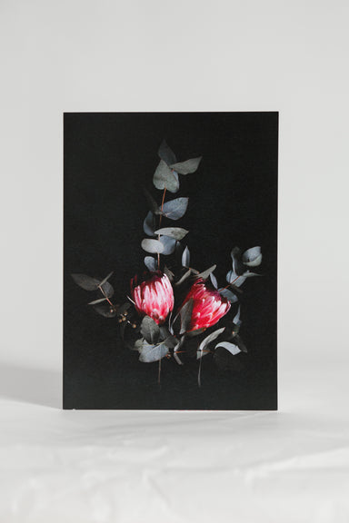 Double Protea Greeting Card