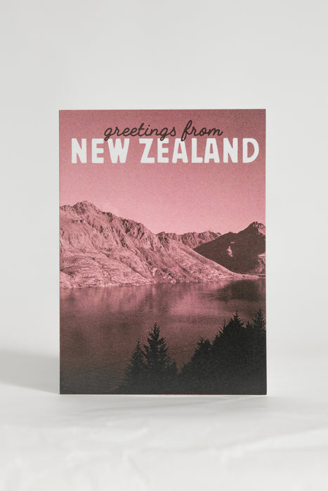 Greetings From New Zealand Queenstown Card