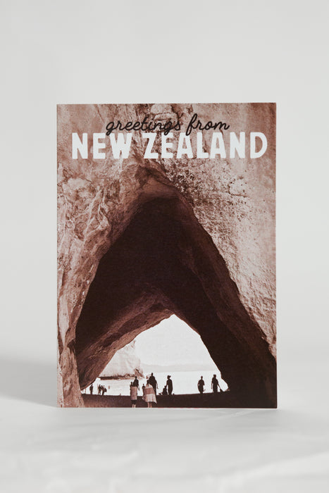 Greetings From New Zealand Cathedral Cove Card