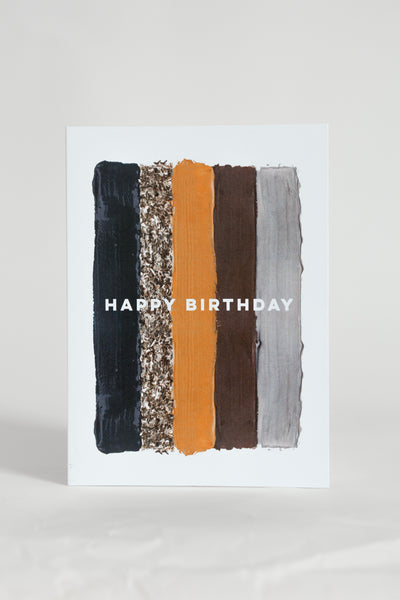 Happy Birthday Paint Card