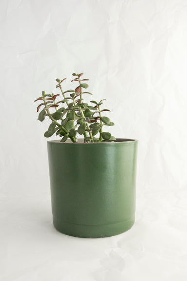 Stoneware Planter Pot - Moss Green