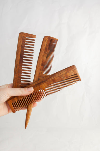 Narrow Tooth Wooden Comb