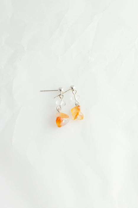 Gem Stone Drop Earrings
