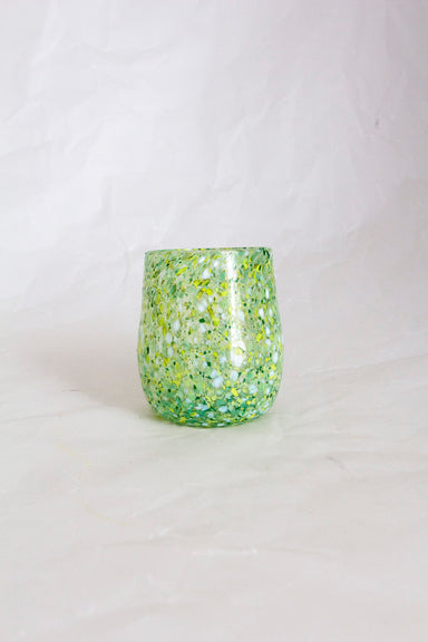 Emerald Mouth Blown Glass Tumbler