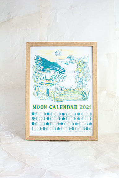 A3 Monthly Moon Calendar 2021