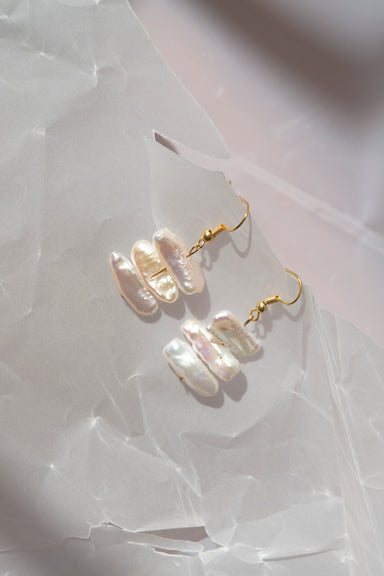 Extra Large Popcorn Pearl Earrings