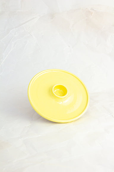 Handmade Ceramic Candlestick Holder - Yellow