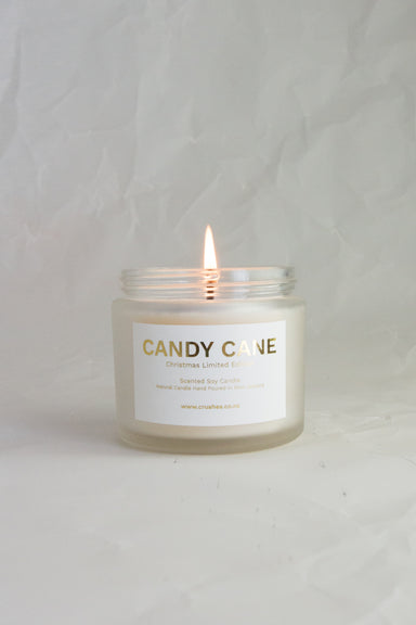 Candy Cane Christmas Candle