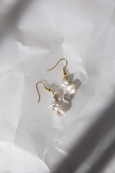 Large Popcorn Pearl Earrings