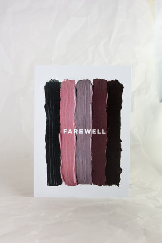 Farewell Paint Card