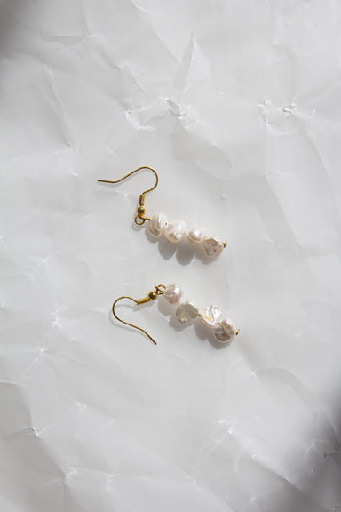 Medium Popcorn Pearl Earrings