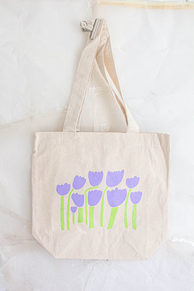 Large Lilac Tulip Tote Bag