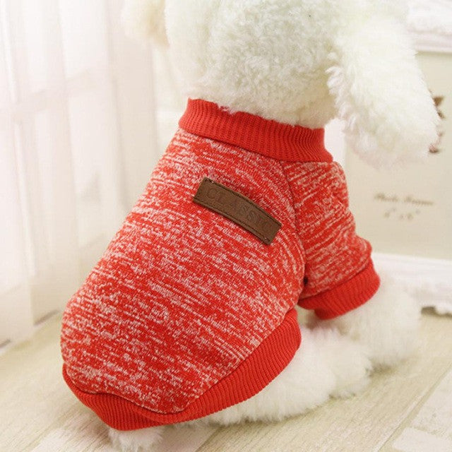 Hot Sale Pet dog clothes for small dogs winter warm coat sweater puppy chihuahua cheap clothing for dog roupa para cachorro
