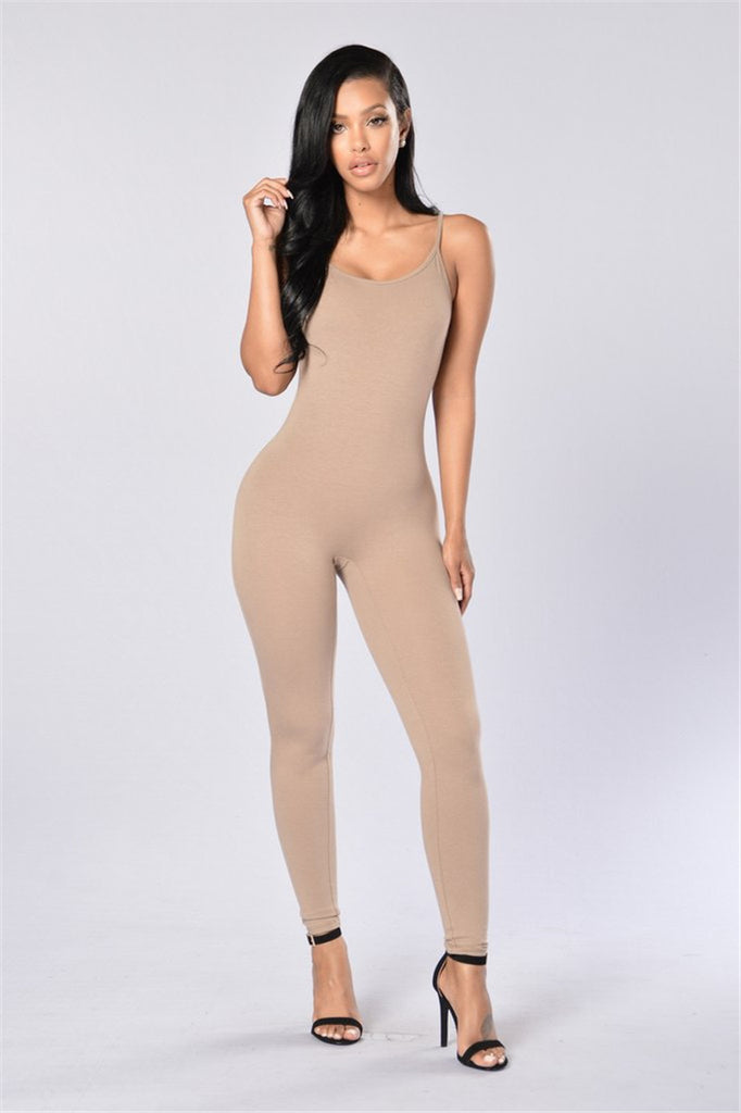 summer black Strap tight leotard suspenders women slim Milk silk jumpsuit
