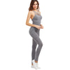 Image of Grey Marled Ribbed Jumpsuit Cage Neck Sexy Skinny Women Casual Knit Jumpsuits