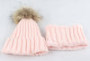 Image of KIDS Warm Fleece Liner Beanie Hat With Scarf