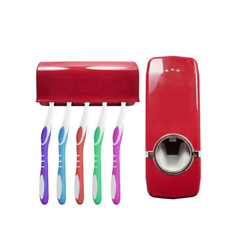 Wall Mount 5 Brushes Toothbrush Holder Sets Automatic Toothpaste Dispenser Home Kitchen Toothpaste Squeezer Bathroom Accessories